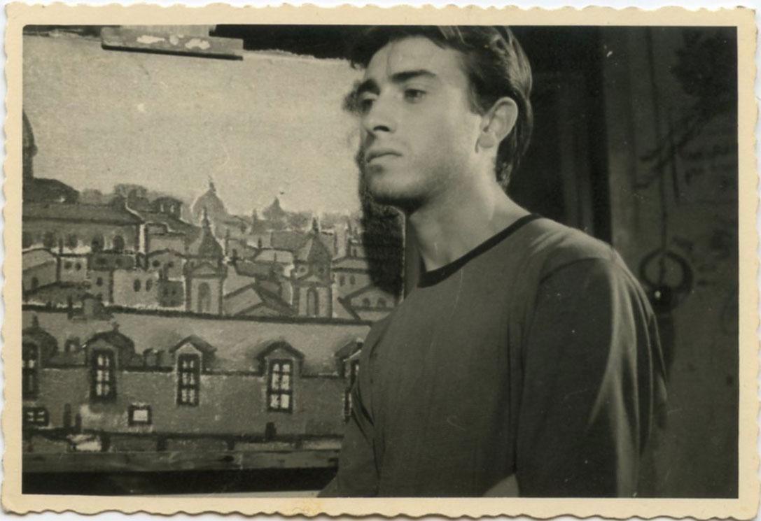 Roma, 1954 con l'opera Paesaggio dal PIncio