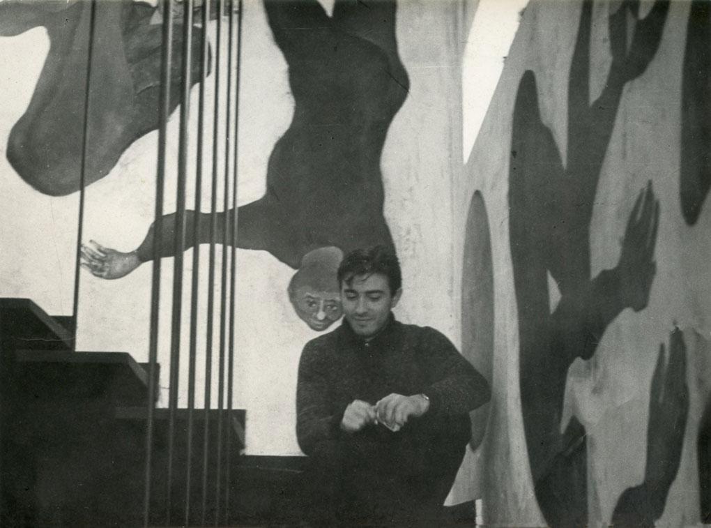 1956 A casa Ghelli con murales